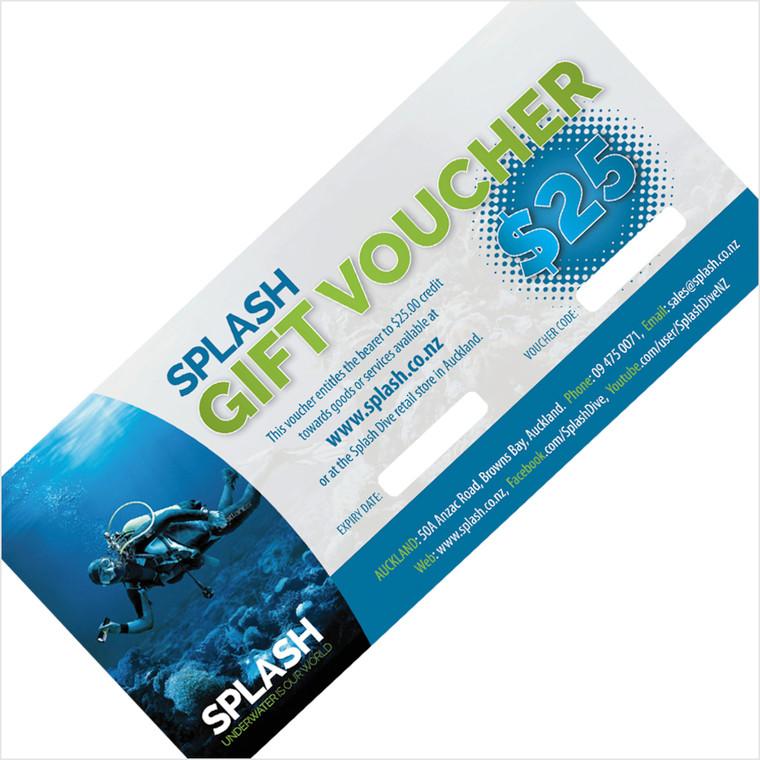$25 SPLASH DIVE GIFT VOUCHER