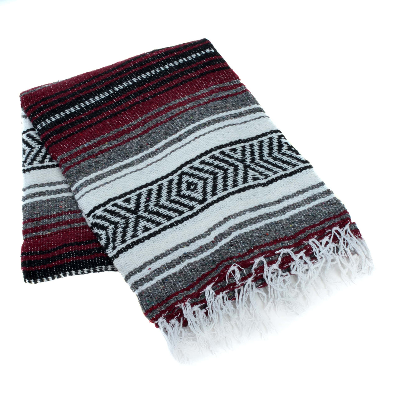 Collectibles Cultures Ethnicities Latin American Blankets Rugs Textiles Large Burgundy Hand Woven Mexican Blanket Solid Color Yoga Mat Authentic New Zsco Iq