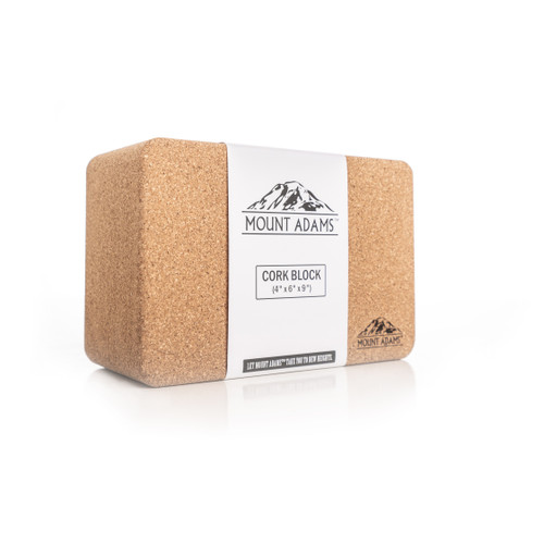 "Mount Adams 4"" Cork Yoga Block"