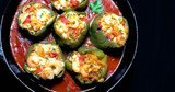 Recipe for Stuffed Bell Peppers Crabs & Shrimps