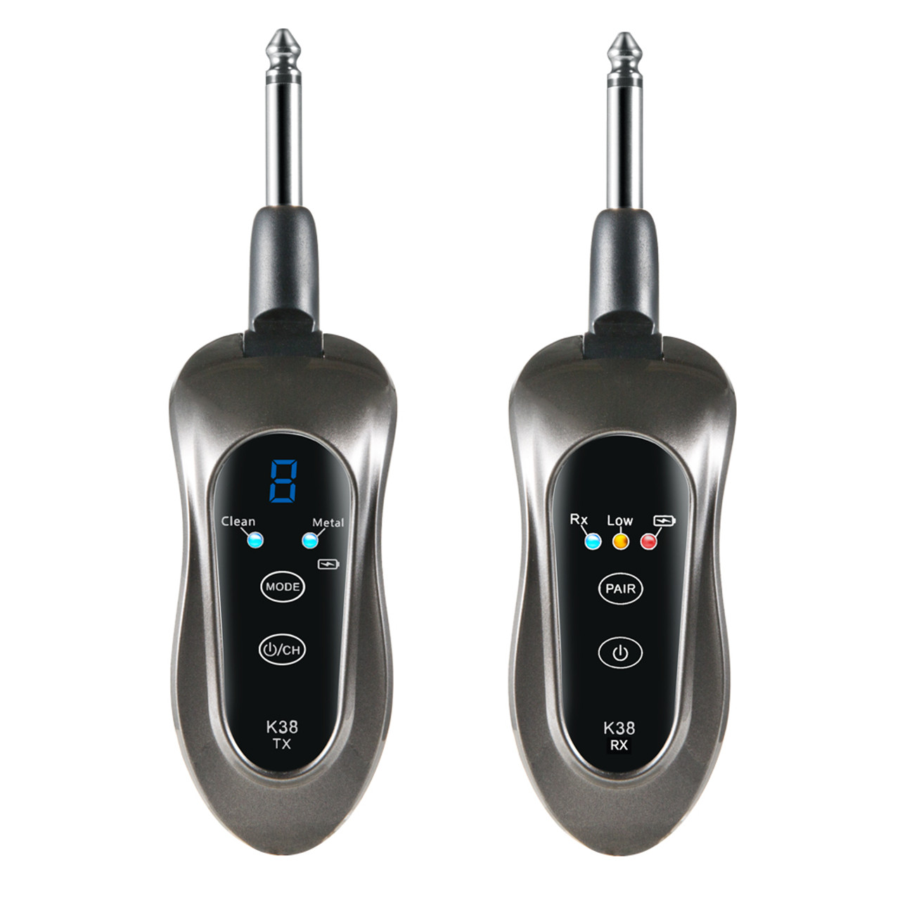 GitaFish Wireless Guitar System comes with 2 sound effects-Digital Guitar  Transmitter Receiver K38