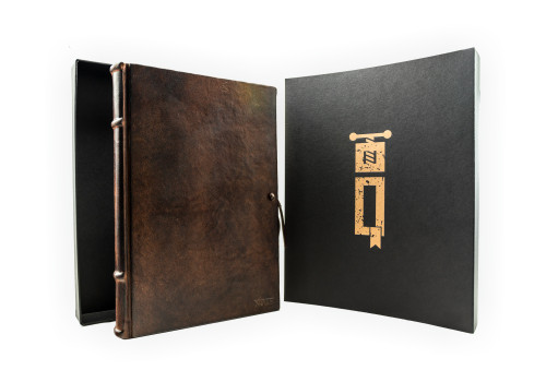 Large Guestbook - Leather   Narcissus Collection