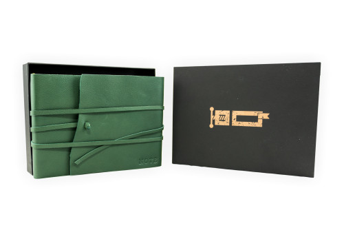 Horizontal Notebook - Certified Leather   Veteris Collection