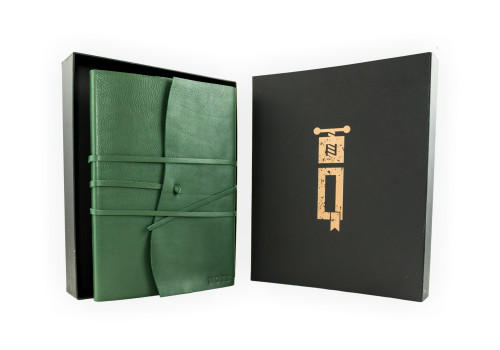 Large Guestbook - Certified Leather   Veteris Collection