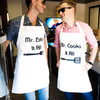 Mr. Cooks It All & Mr. Eats It All Aprons For Men