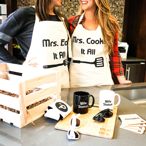 Lesbian Couple Kitchen Accessories Crate