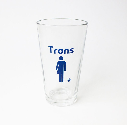 Trans Pint Glass