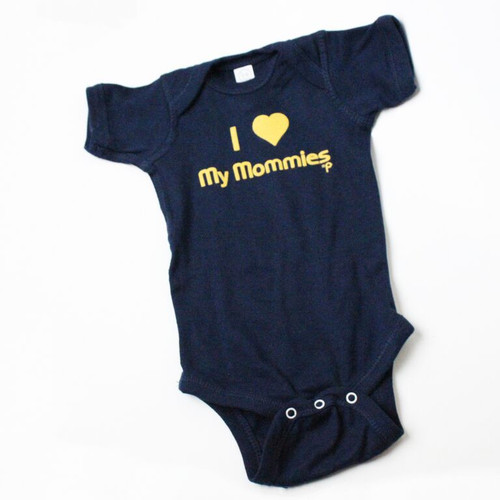 "I Love My Mommies"" Cotton Baby Onesie"