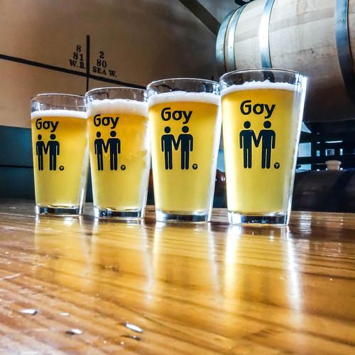 Gay Pint Glass Set