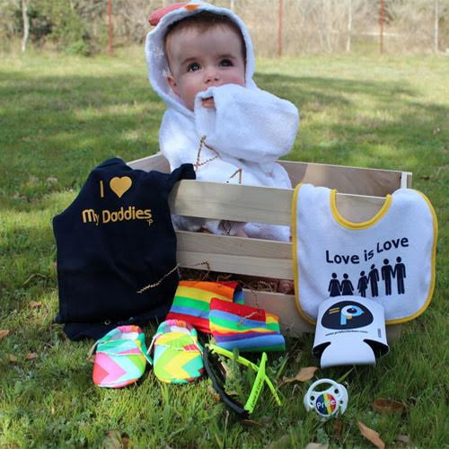 Gay Dads & Gay Parents Baby Shower Crate