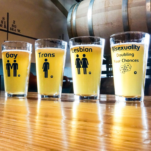 LGBTQ Pint Glass Set
