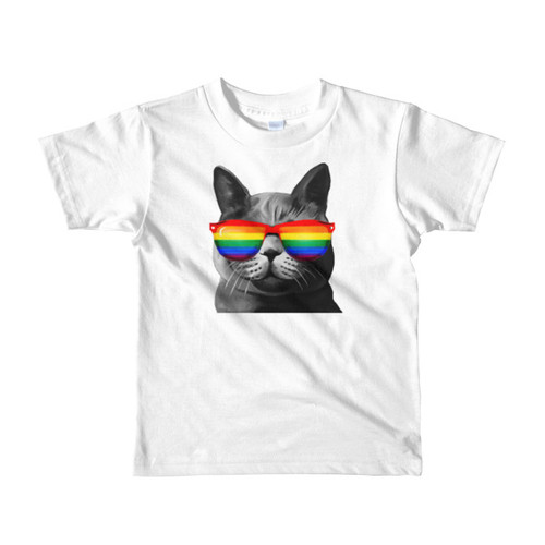 Rainbow Cat Short sleeve kids t-shirt
