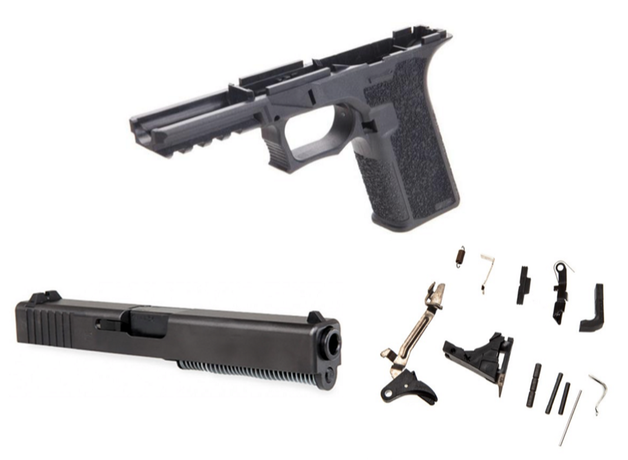 80% GLOCK 22 POLYMER80 LONE WOLF COMPLETE PISTOL BUILD KIT - BLACK 1