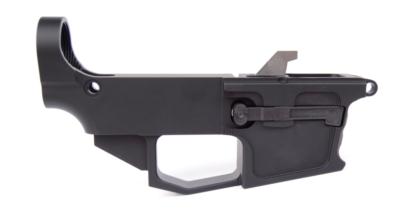 NEW FRONTIER 80% AR15 40 S&W LOWER RECEIVER - GLOCK MAG COMPATIBLE -  ANODIZED BLACK