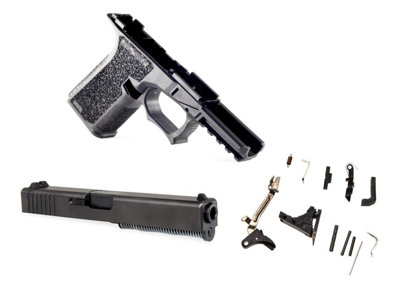 80% GLOCK 19 POLYMER80 LONE WOLF COMPLETE PISTOL BUILD KIT - BLACK