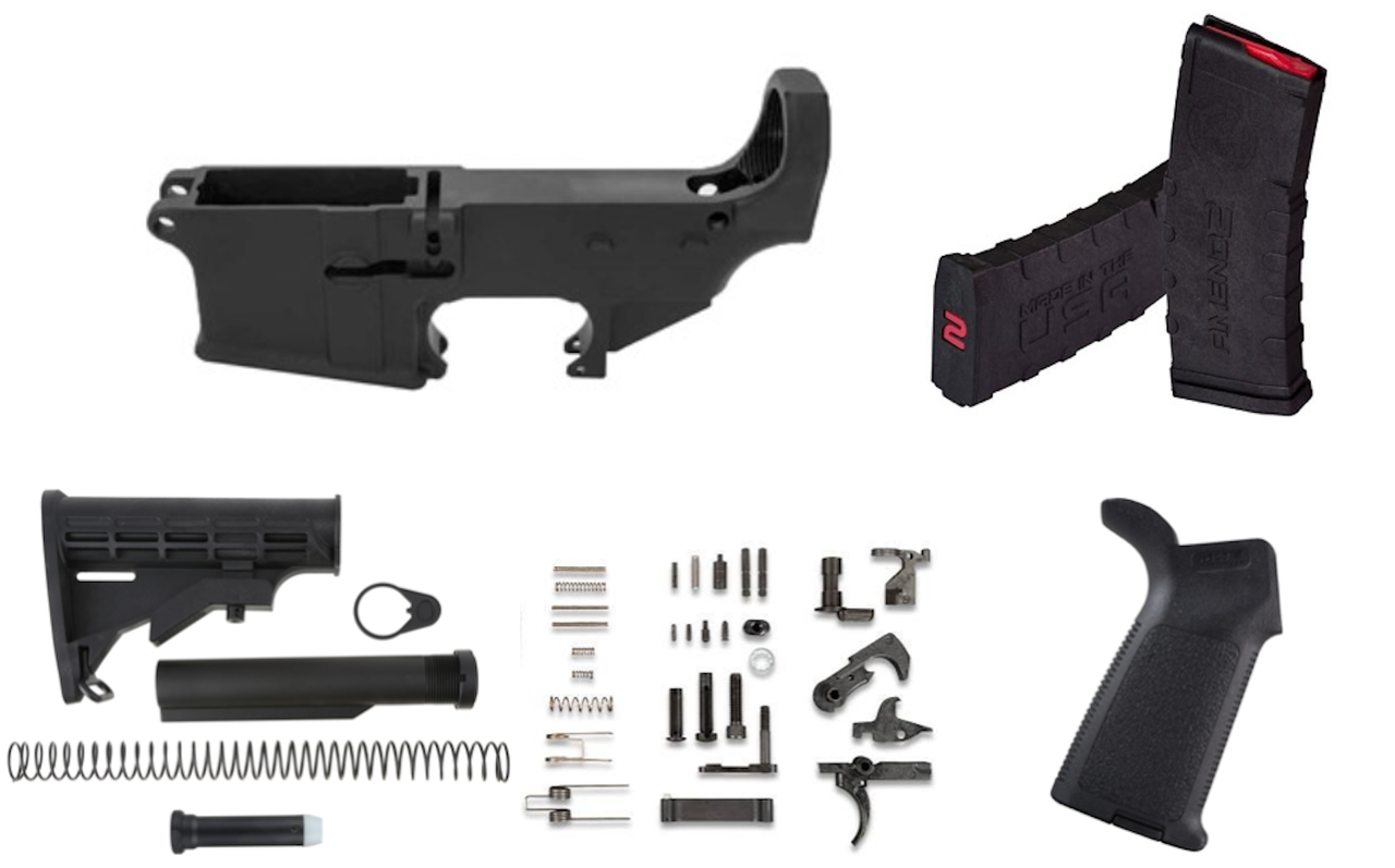 AERO PRECISION KIT ONE 80% COMPLETE LOWER BUILD KIT