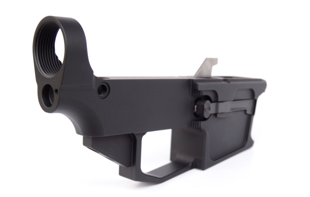 NEW FRONTIER 80% AR15 10MM LOWER RECEIVER - GLOCK MAG COMPATIBLE - ANODIZED  BLACK