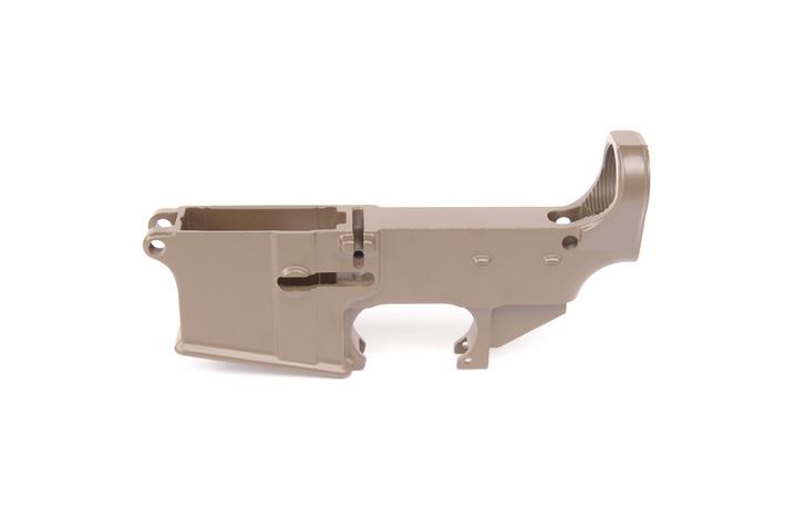 80% CERAKOTE AR-15 LOWER RECEIVER - PATRIOT BROWN
