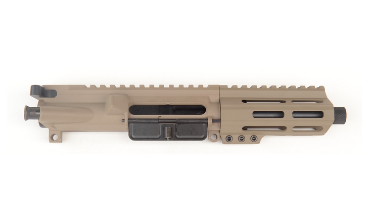 "9MM 5.5"" BALLISTIC ADVANTAGE M-LOK FREE FLOAT COMPLETE UPPER - FDE CERAKOTE"