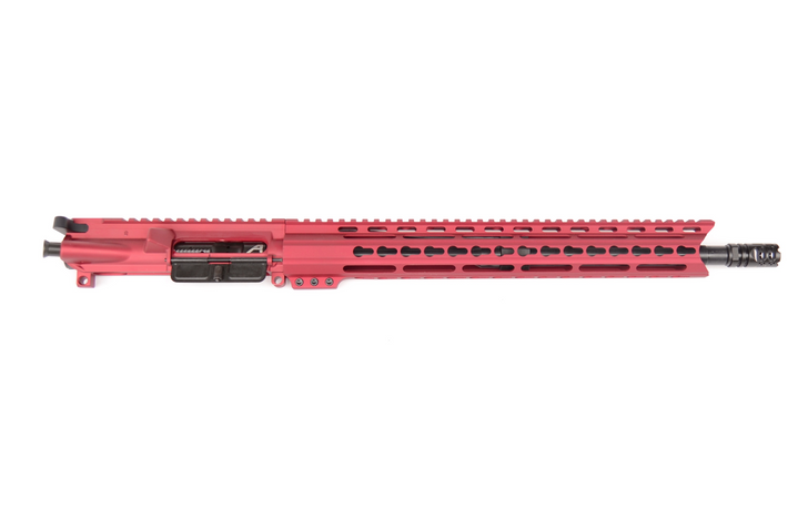 """5.56 16"""" KEYMOD FREE FLOAT COMPLETE UPPER - RED ANODIZED"""