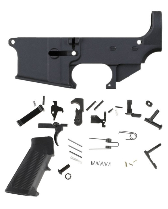 80% ANDERSON AR15 LOWER + ANDERSON LOWER PARTS KIT WITH GRIP