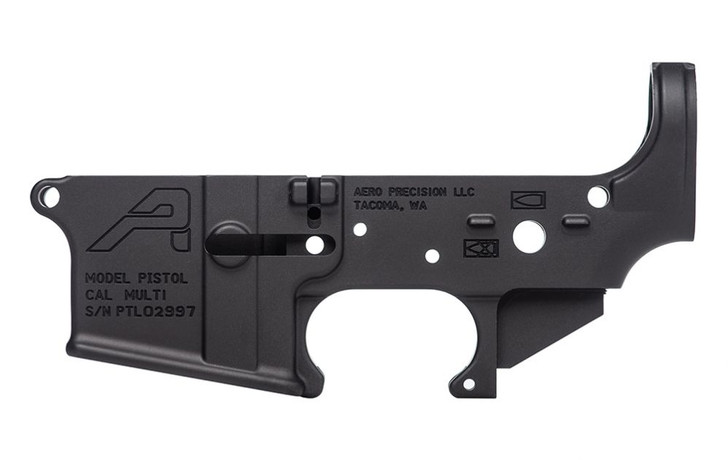 AERO PRECISION AR15 STRIPPED LOWER RECEIVER PISTOL MARKED - ANODIZED BLACK