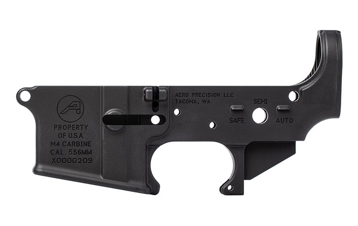 AERO PRECISION M4A1 CLONE LOWER RECEIVER STRIPPED ANODIZED BLACK