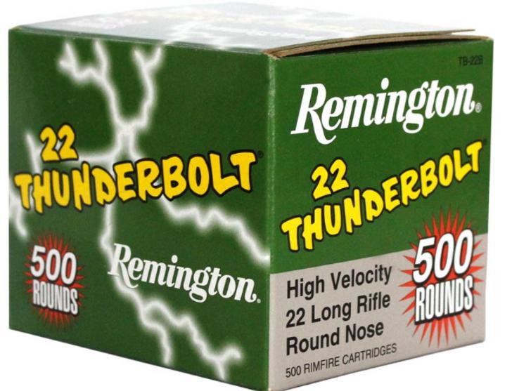 REMINGTON 22LR THUNDERBOLT AMMUNITION - 500 ROUNDS