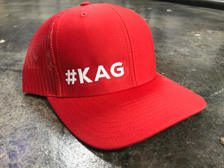 KEEP AMERICA GREAT HAT #KAG RED/WHITE