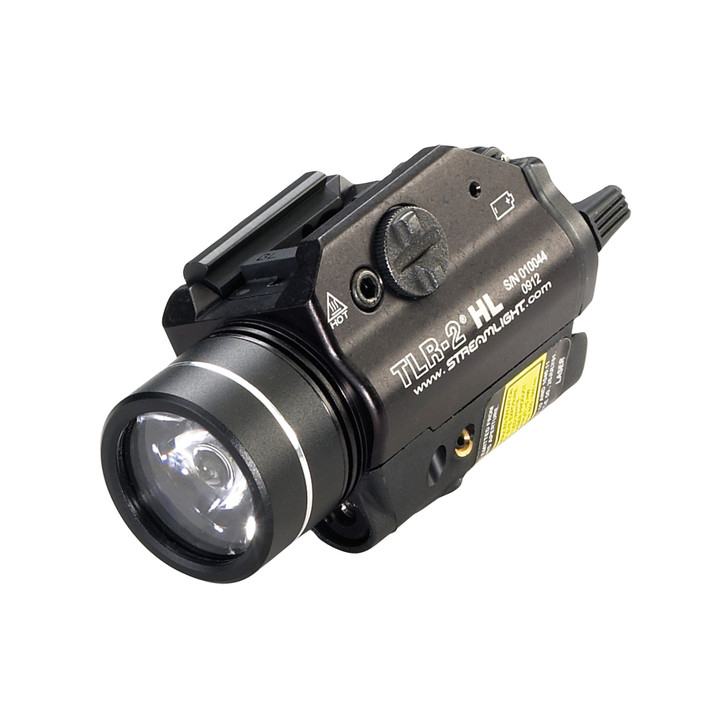 STREAMLIGHT TLR-2 HL 800 LUMEN LED TACTICAL HANDGUN FLASHLIGHT + RED LASER SIGHT BLACK