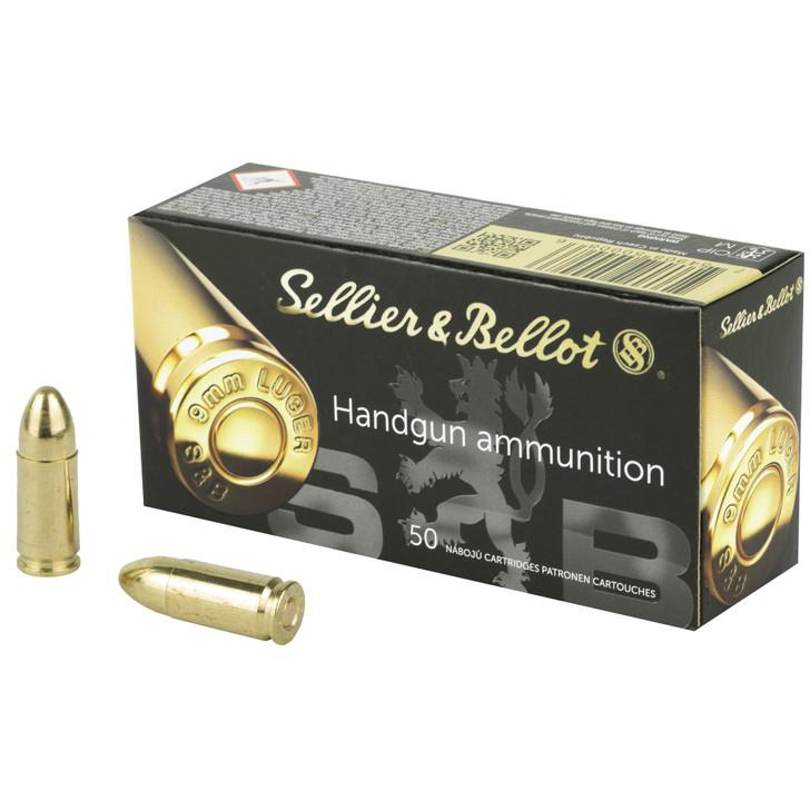SELLIER & BELLOT PISTOL 9MM 115 GR FMJ - 50 ROUND BOX