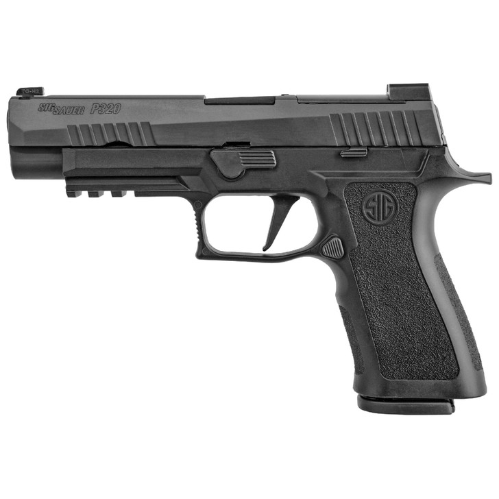 "SIG SAUER P320XF FULL SIZE 9MM 4.7"" BARREL XRAY 3 NIGHT SIGHTS WITH R2 BASE PLATE 2 MAGS 17 ROUND - BLACK"