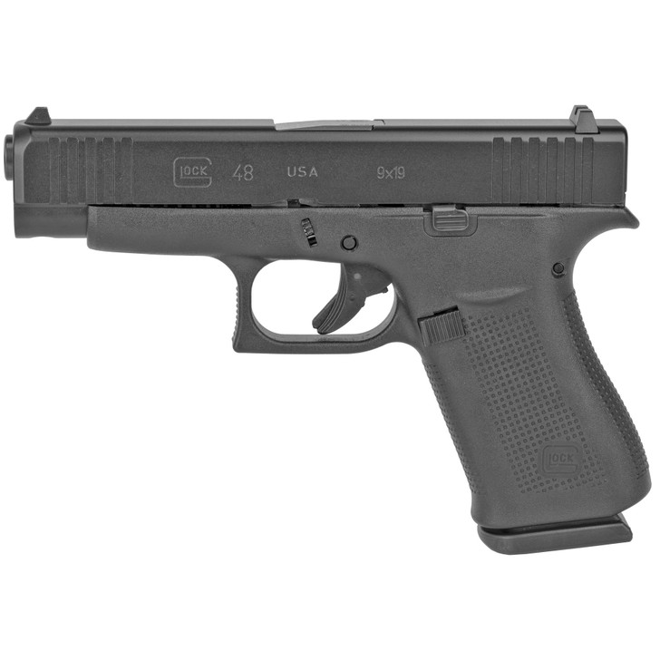 "GLOCK 48 SEMI AUTO COMPACT 9MM 4.17"" CARREL POLYMER FRAME 10 ROUND 2 MAGS FIXED SIGHTS - BLACK"