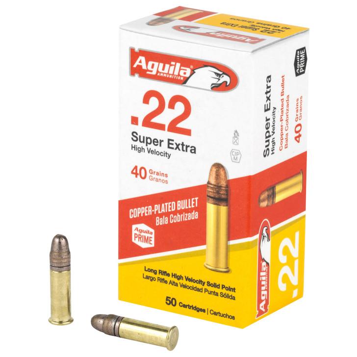 AGUILA AMMUNITION RIMFIRE 22LR 40 GRAIN SOLID POINT HI-VELOCITY 1255 FPS - 50 ROUND BOX