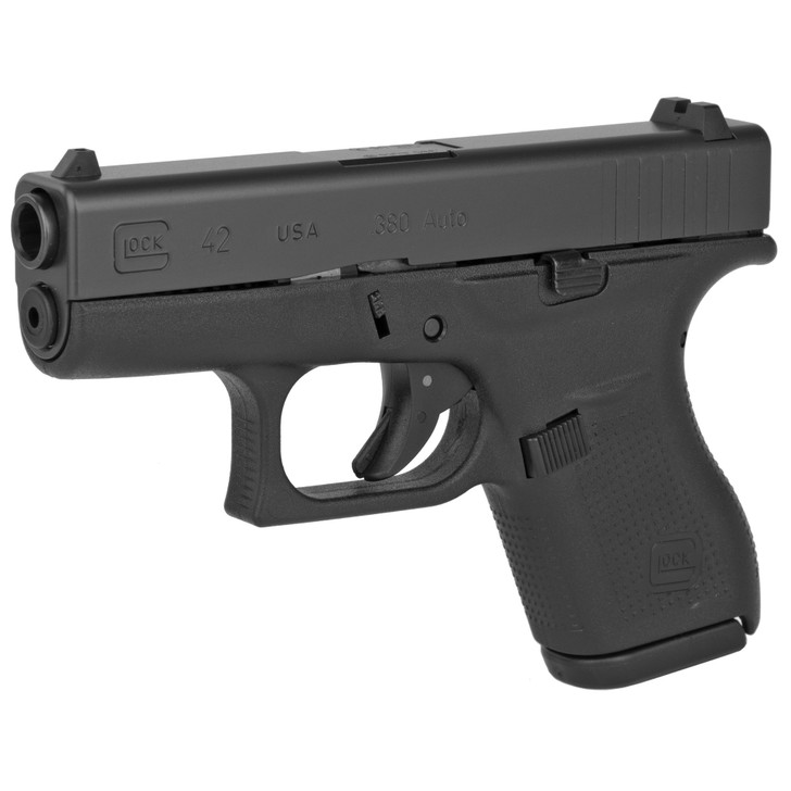 """GLOCK 42 SUB COMPACT 380 ACP 3.25"""" BARREL FIXED SIGHTS 6 ROUND 2 MAGS - MATTE BLACK"""