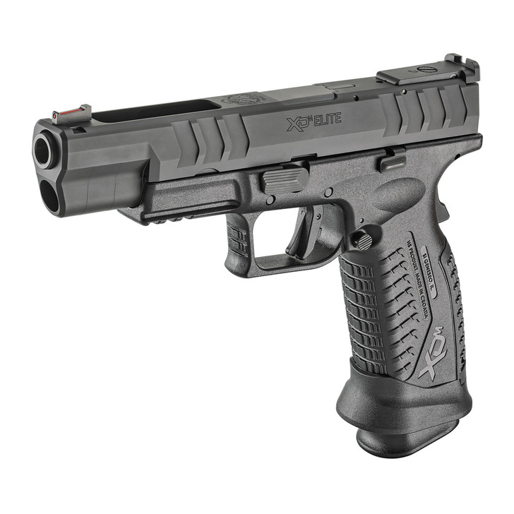 "SPRINGFIELD XDM ELITE TARGET FULL SIZE 9MM 5.25"" BARREL FIBER FRONT & ADJUST REAR SIGHTS 22 ROUND 3 MAGS - BLACK MELONITE"