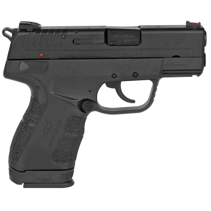 "SPRINGFIELD ARMORY CDE SEMI AUTO COMPACT 9MM 3.3"" BARREL 9 ROUND FIBER OPTIC FRONT SIGHT LOW PROFILE COMBAT REAR SIGHT - BLACK"