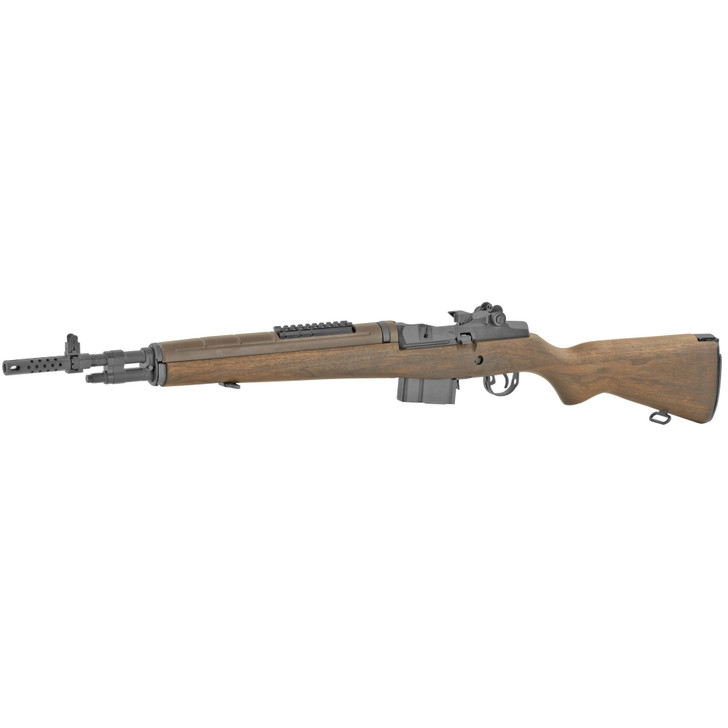 """SPRINGFIELD M1A SCOUT SQUAD SEMI AUTO 308 WIN 18"""" BARREL ADJUSTABLE SIGHT 10 ROUND - BLUED WITH WALNUT STOCK"""