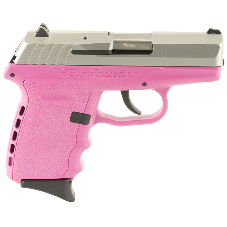"""SCCY CPX-2 SEMI AUTO 9MM 3.1"""" BARREL 10 ROUND - SILVER/PINK"""