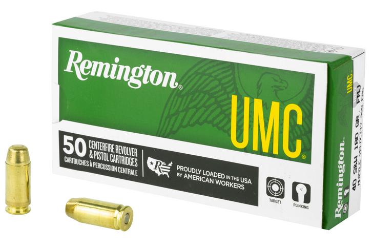 REMINGTON UMC 40 S&W 180 GRAIN FULL METAL JACKET 50 ROUND BOX