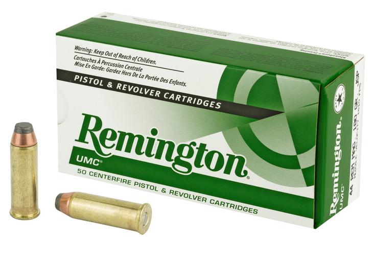 REMINGTON UMC 44 MAGNUM 180 GRAIN JACKETED SOFT POINT 50 ROUND BOX