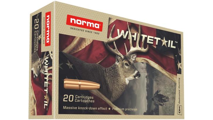 NORMA WHITETAIL .270 WINCHESTER 130 GRAIN BRASS CASED CENTERFIRE RIFLE AMMUNITION .270 WINCHESTER 20 ROUNDS PER BOX