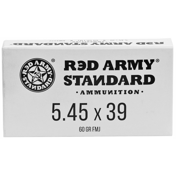 CENTURY ARMS RED ARMY STANDARD AMMUNITION 5.45X39 60 GRAIN FULL METAL JACKET - 20 ROUND BOX