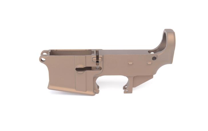 80% CERAKOTE AR-15 LOWER RECEIVER - BURNT BRONZE