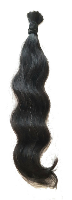 "16"" Brazilian Braiding Virgin Unprocessed Body wave Bulk Human Hair"