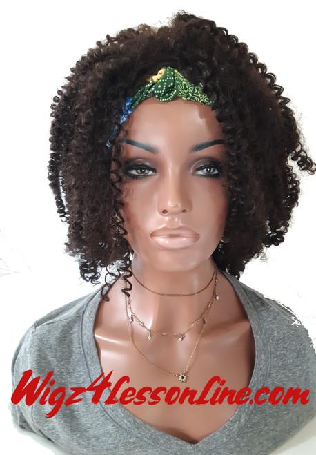 Head Wrap Afro Kinky Wig