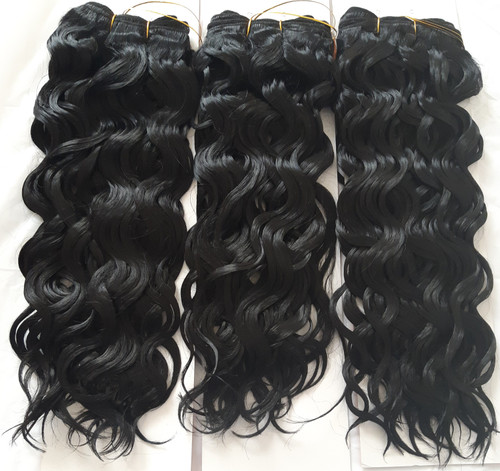 "14"" Spanish Wave Human Hair Blend Weave"