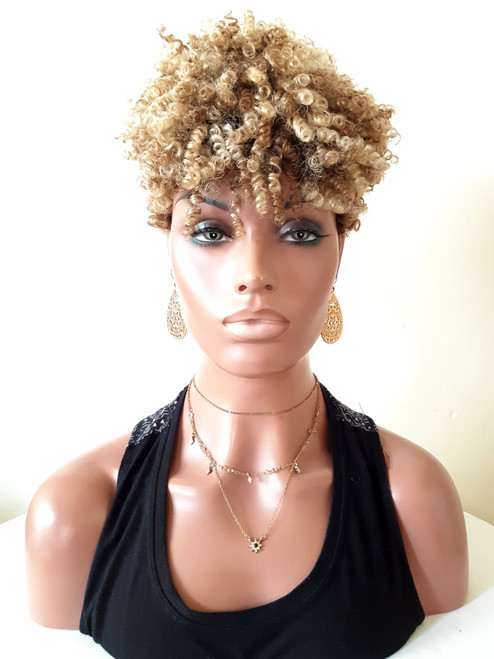 Pixie Afro Kinky Curly Full Cap Wig