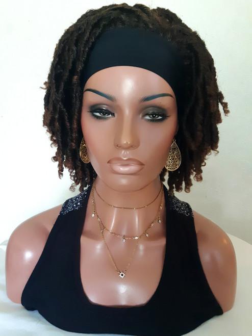 Headband Faux Locs Straw Curls Wig