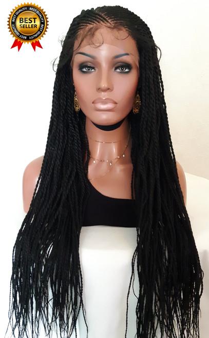31 inch Cornrow Twists Braided Wig